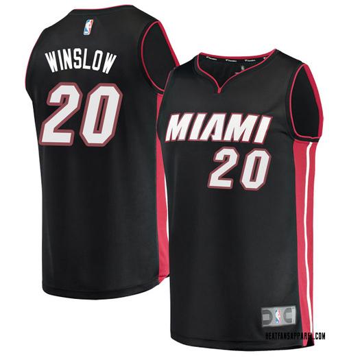 Youth Justise Winslow Miami Heat Fanatics Branded Swingman Black Fast Break Jersey - Icon Edition
